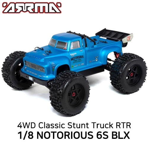 [입고완료]2020 ]V4 ARRMA 1:8 NOTORIOUS 6S with Spektrum RTR, Blue 100KM/H +