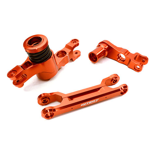 Billet Machined Steering Bell Crank Set for Traxxas X-Maxx 4X4 (Red)