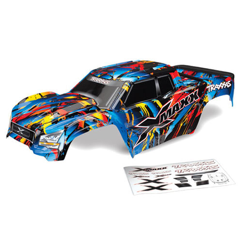 Body, X-Maxx®, Rock n' Roll (painted, decals applied) (assembled with tailgate protector)│엑스맥스바디