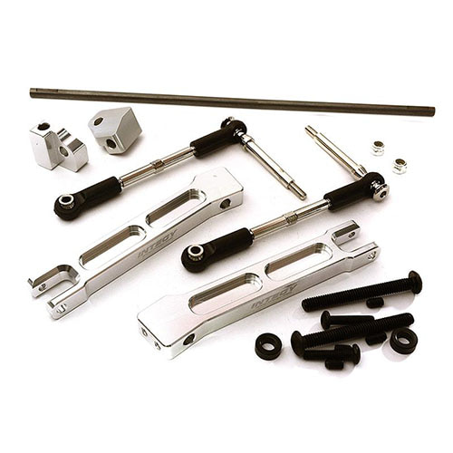 Rear Sway Bar Anti-Roll Bar Set for Traxxas X-Maxx 4X4 (Silver)
