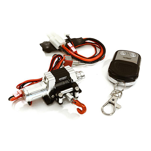 T10 Realistic High Torque Mega Winch w/ Remote for Scale Rock Crawler 1/10 Size 트라이얼 메탈윈치