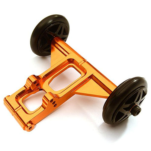 Billet Machined Wheelie Bar Set for Arrma 1/8 Kraton 6S BLX (Orange)