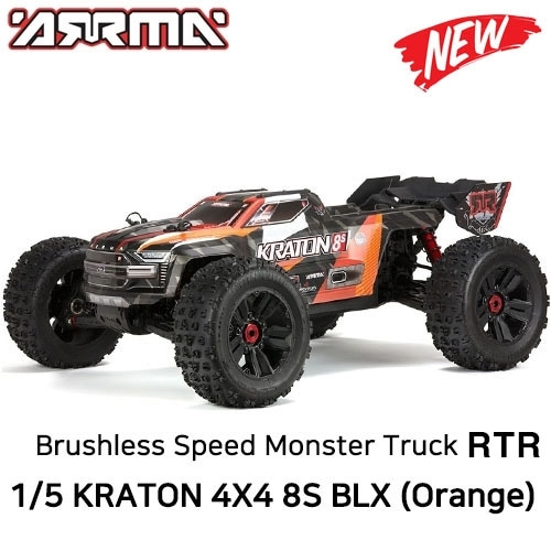 [DX3 조종기포함 버전] ARRMA 1/5 KRATON 4X4 8S BLX Brushless Speed Monster Truck PNR, Orange