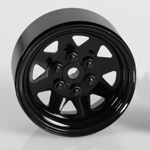 "[#Z-W0130] [4개 한대분] 6 Lug Wagon 1.9"" Steel Stamped Beadlock Wheels (Black)"