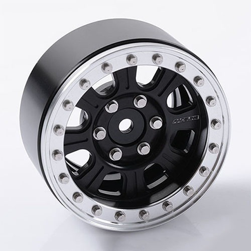 "[#Z-W0189] [4개 한대분] Raceline Monster 1.9"" Beadlock Wheels (Black/Silver)"