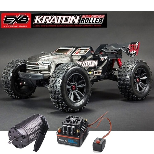 [최신버전] KRATON 1:8 4WD EXtreme Bash Roller (Black)+GM RACE ULTRA 2000Kv 센서드모터+XR8 Plus 150A 센서드 변속기