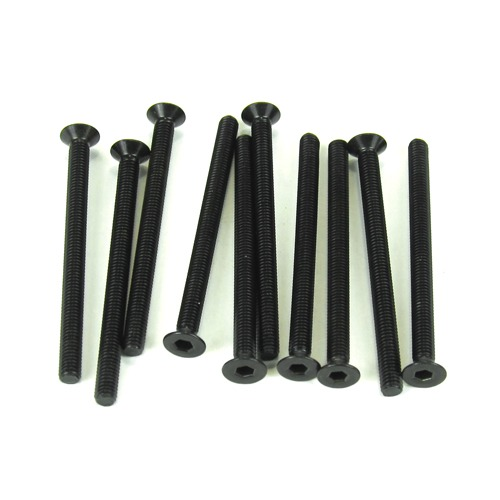 TKR1333 M3x40mm Flat Head Screws (black 10pcs)