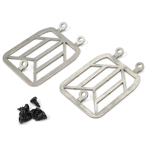 [#TRX4-068] Steel Front Light Grill Body Accessories 2pcs For Traxxas TRX-4 TRX4-6 Benz G500