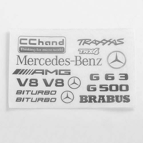 [#VVV-C0796] Steel Logo Decal Sheet for Traxxas TRX-4 Mercedes-Benz G-500