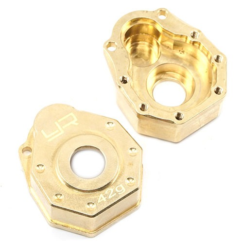 [#TRX4-019] Brass Front or Rear Portal Cover 42g 2 pcs For Traxxas TRX-4