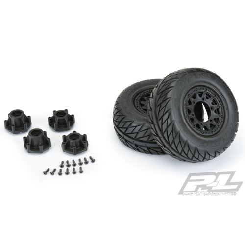 "2020-NEW AP1167-10 Street Fighter SC 2.2""/3.0"" Street Tires Mounted on Raid BlacK"