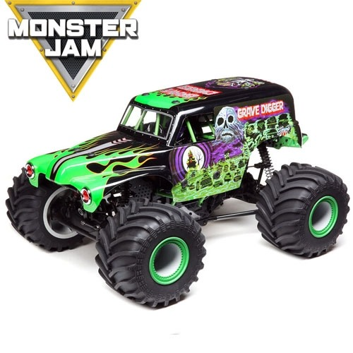 LOSI 1/10 LMT 4WD Solid Axle Monster Truck RTR, Grave Digger