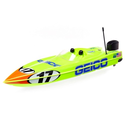 "Miss GEICO 17"" Power Boat Racer Deep-V RTR YELLOW"