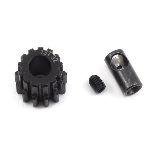 ProTek RC Steel 32P Pinion Gear w/Reducer Sleeve (Mod .8) (13T)