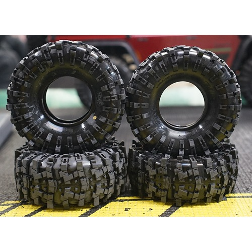 "[4월 중순경 발송예정 예약상품]Sweep TRILUG 1.9"" Rock Crawler tires W/ Inserts Super Soft (Gold Dot) 2pcs"