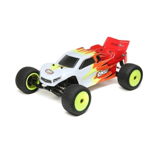 LOS01015T1 1/18 Mini-T 2.0 2WD Stadium Truck Brushed RTR, Red/White