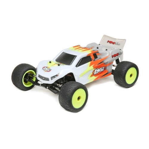 LOS01015T3 1/18 Mini-T 2.0 2WD Stadium Truck Brushed RTR, Gray/White