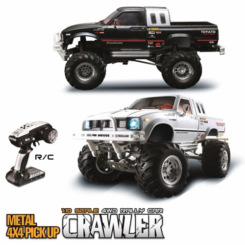 부르져 클론 제품-[짭브루져 hg-p407]1/10 2.4G 4WD Rally Rc Car Metal 4X 4 Pickup Truck Rock Crawler RTR Toy Sale